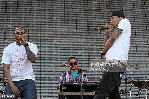 REITSTADION Photo of NERD and Shay HALEY and Pharrell WILLIAMS and Chad HUGO Group performing on stage as part of the Projekt Revolution Tour LR Shay...
