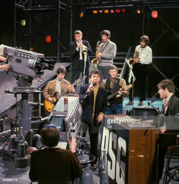 Photo of NEW ANIMALS and Eric BURDON and ANIMALS, Group performing on Ready Steady Go! TV Show at Wembley Studios with Eric Burdon