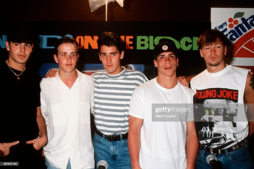 Photo of NEW KIDS ON THE BLOCK and Joey McINTYRE and Donnie WAHLBERG and Jonathan KNIGHT and Jordan KNIGHT and Danny WOOD : News Photo