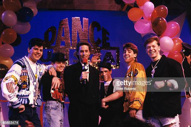 UNITED STATES APRIL 22 Photo of NEW KIDS ON THE BLOCK and Jonathan KNIGHT and Donnie WAHLBERG and Jordan KNIGHT and Joey McINTYRE and Danny WOOD...