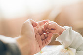 Photo of newborn baby fingers