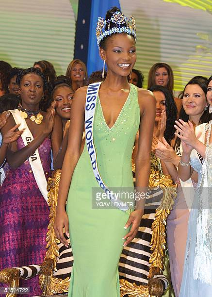 photo of newly crowned Miss Nigeria Agbani Darego taken 16 November 2001 in Sun City some 200 Kilometers north West of Johannesburg AFP PHOTO YOAV...