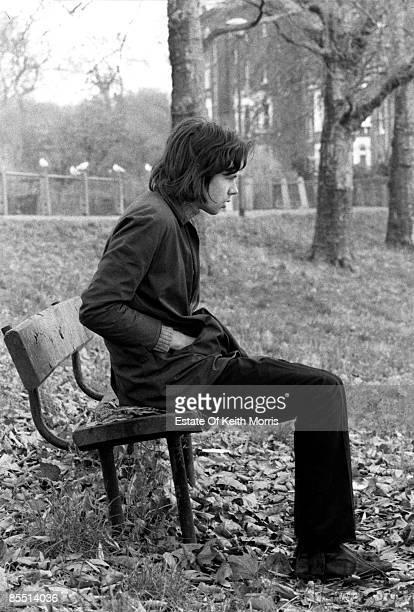 Photo of Nick DRAKE posed on Hamsptead Heath