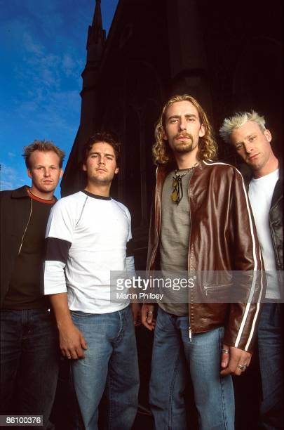 Photo of NICKELBACK Cold Live at the Chapel Nickelback 20th October 2001 Lto R Ryan Vikedal Ryan Peake Chad Kroeger Mike Kroeger