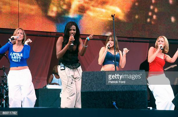 PARK Photo of Nicole APPLETON and ALL SAINTS and Shaznay LEWIS and Natalie APPLETON LR Nicole Appleton Shaznay Lewis Melanie Blatt Natalie Appleton