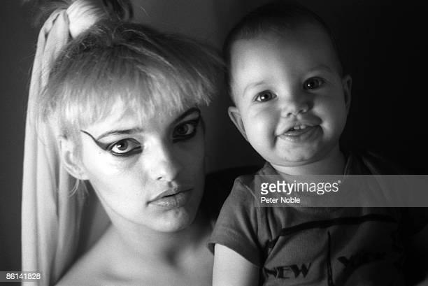 Photo of Nina HAGEN BW Posed Nina and daughter Cosma Shiva Hagen