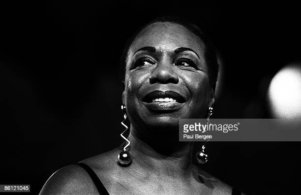 Photo of Nina SIMONE Nina Simone portrait on stage at JazzMecca in Maastricht