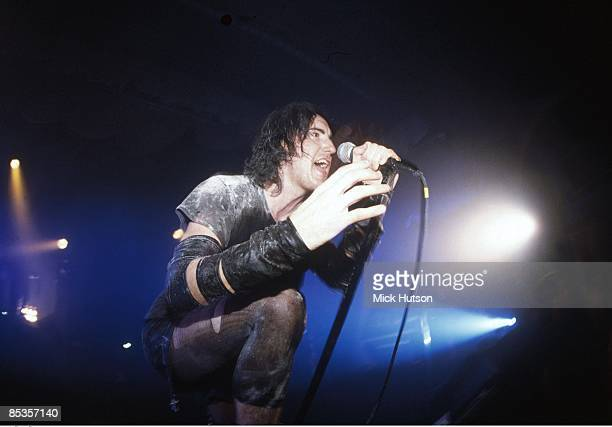 Photo of NINE INCH NAILS and Trent REZNOR Trent Reznor performing live onstage