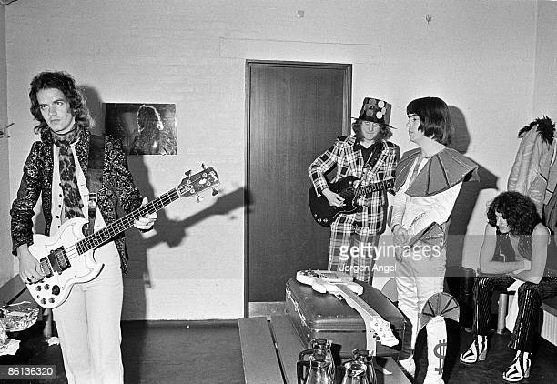 Photo of Noddy HOLDER and SLADE and Jim LEA and Dave HILL LR Jim Lea Noddy Holder Dave Hill Don Powell