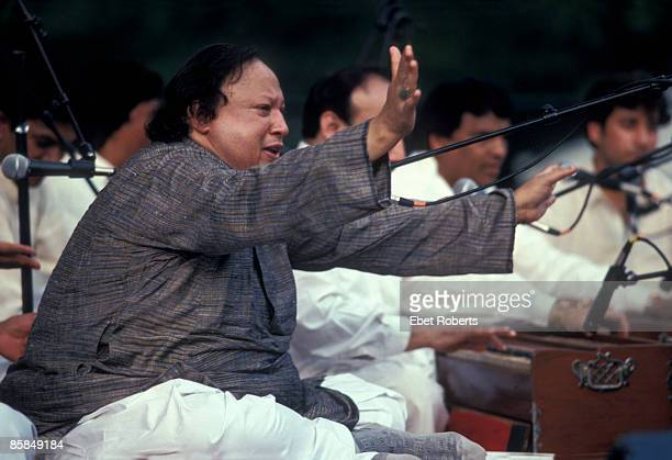 UNITED STATES JANUARY 01 CENTRAL PARK Photo of Nusrat Fateh Ali KHAN Nusrat Fateh Ali Kahn performing at Central Park Summerstage in New York City on...