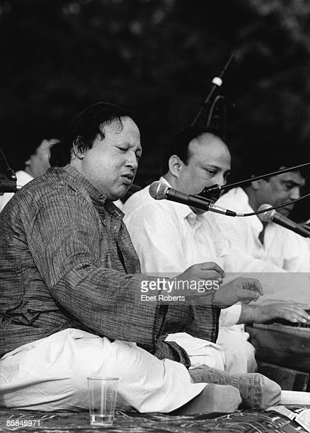 UNITED STATES AUGUST 14 CENTRAL PARK Photo of Nusrat Fateh Ali KHAN on the Summer Stage