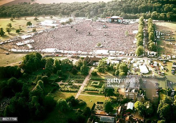Photo of OASIS and KNEBWORTH, Aerial shot of the Oasis show