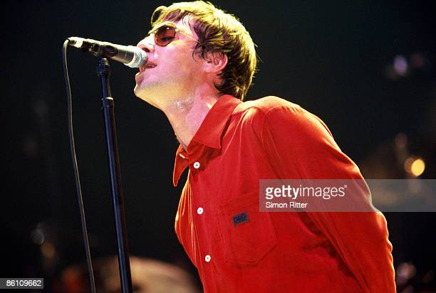 COURT Photo of OASIS and Liam GALLAGHER Liam Gallagher performing on stage