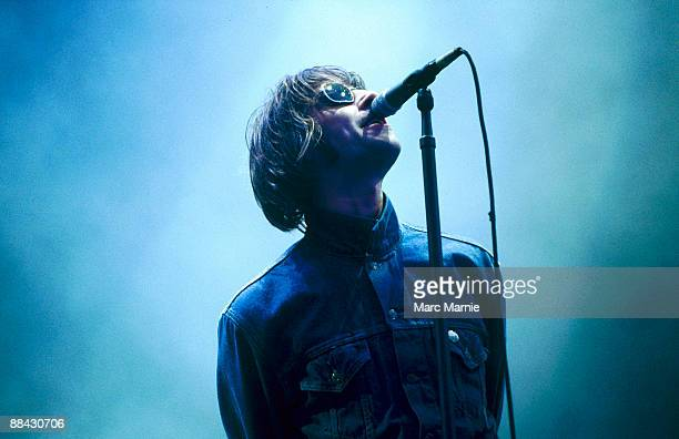 Photo of OASIS and Liam GALLAGHER; Liam Gallagher performing on stage