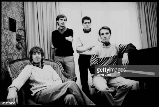 Photo of OMD Orchestral Manouvres In The Dark lr Malcolm Holmes Paul Humphreys Andy McCluskey Martin Cooper London 21 October 1981
