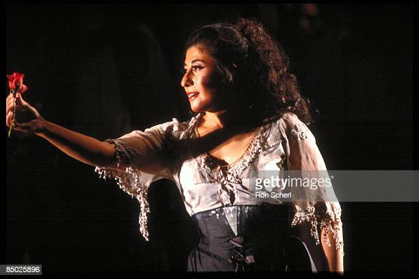 Photo of OPERA SINGER and CARMEN and Alicia NAFE and OPERA; Alicia Nafe as Carmen. Production: Jean Pierre Ponnelle. Director: Vera Lucia Calabria