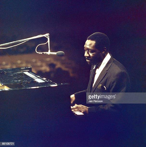 Photo of Otis SPANN Blues pianist Otis Spann performing on stage