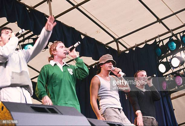 Photo of OTT Irish boyband OTT performing on stage