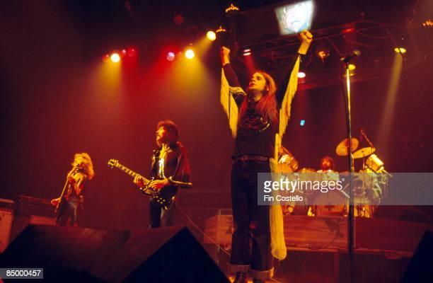 GARDEN Photo of Ozzy OSBOURNE and BLACK SABBATH LR Geezer Butler Tony Iommi Ozzy Osbourne Bill Ward performing live onstage