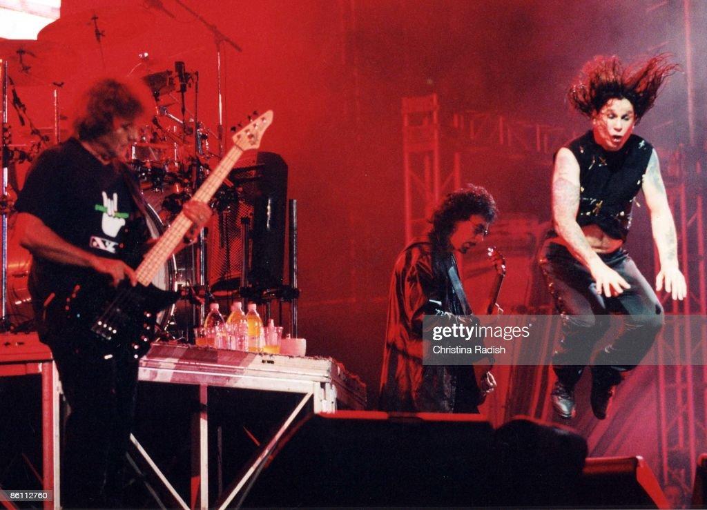 Photo of Ozzy OSBOURNE and BLACK SABBATH; with Black Sabbath - L-R: Geezer Butler, Tony Iommi, Ozzy Osbourne performing live onstage at Ozzfest 2001