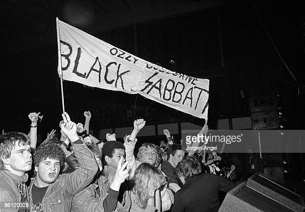 Photo of Ozzy OSBOURNE Ozzy Osbourne fans 1983 Copenhagen Denmark