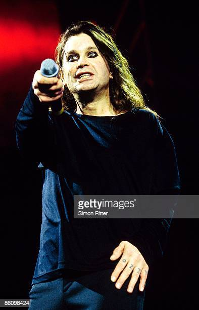 BIRMINGHAM Photo of Ozzy OSBOURNE performing live onstage with Black Sabbath