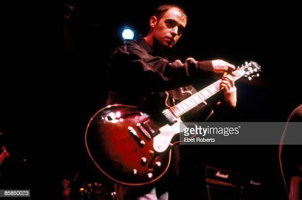 Photo of Paul 'Bonehead' ARTHURS and OASIS; Paul 'Bonehead' Arthurs performing live onstage