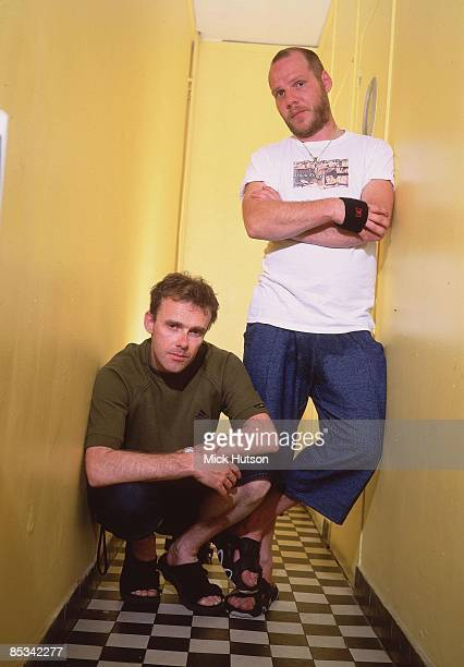 Photo of Paul DALEY and Neil BARNES and LEFTFIELD Neil Barnes and Paul Daley posed studio