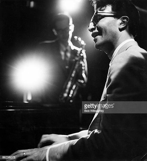 Photo of Paul DESMOND and Dave BRUBECK with Paul Desmond