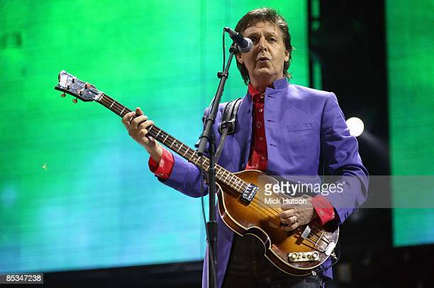 FESTIVAL Photo of Paul McCARTNEY performing live onstage playing Hofner 500/1 'violin' bass