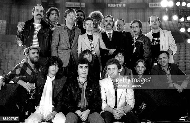 Photo of Paul RODGERS and Eric CLAPTON and Ronnie LANE and Andy FAIRWEATHER LOW and Jimmy PAGE and Bill WYMAN and Kenney JONES and Jeff BECK and...