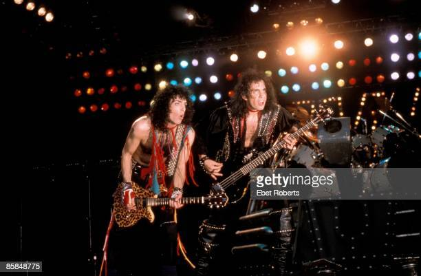 UNITED STATES MARCH 12 RADIO CITY MUSIC HALL Photo of Paul STANLEY and Gene SIMMONS and KISS Paul Stanley Gene Simmons performing live onstage...
