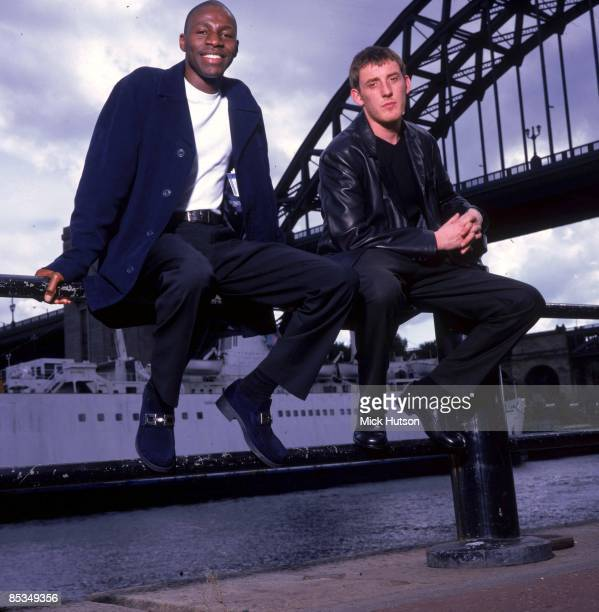 Photo of Paul TUCKER and Tunde BAIYEWU and LIGHTHOUSE FAMILY; Tunde Baiyewu and Paul Tucker - posed