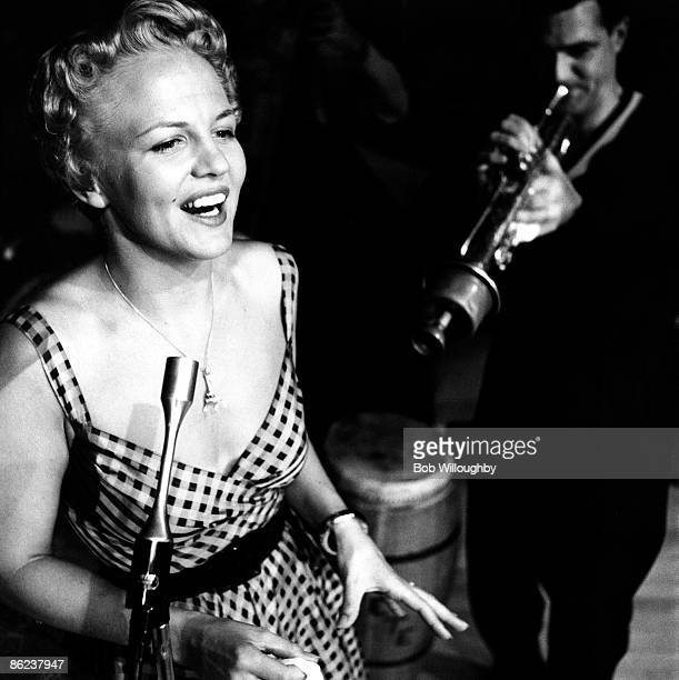 USA Photo of Pete CANDOLI and Peggy LEE live in Lake Tahoe Peter Candoli on trumpet in background
