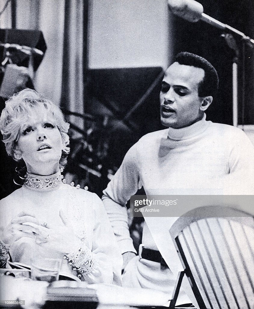 Photo of Petula Clark and Harry Belafonte together in a recording studio