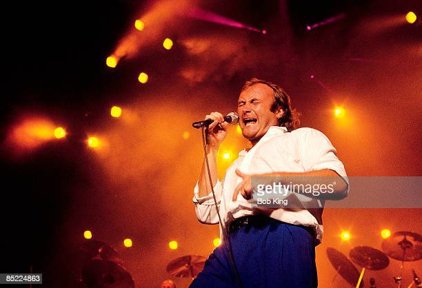 Photo of Phil COLLINS performing live on stage in Sydney Australia circa 1985