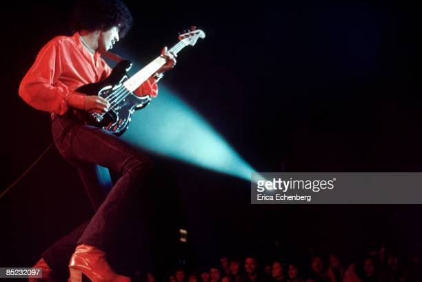 ODEON Photo of Phil LYNOTT and THIN LIZZY Phil Lynott performing live onstage playing Fender Precision bass