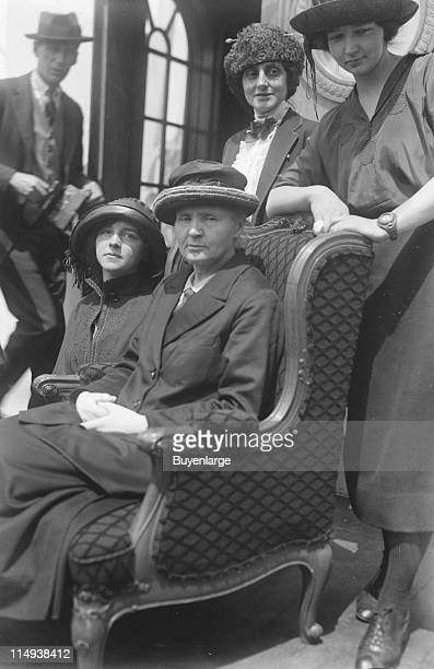 Photo of physicist and chemist Marie Curie with her daughters Irene and Eve during their visit to the United States 1921 The American journalist and...