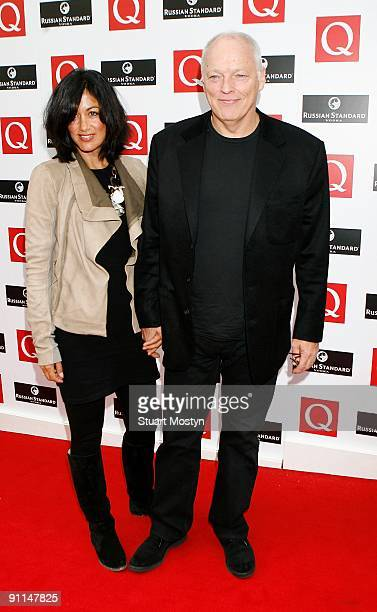 AWARDS Photo of PINK FLOYD and David GILMOUR Dave Gilmour and wife Polly arriving at the Grosvenor House Hotel