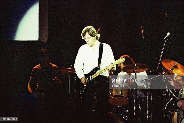 Photo of PINK FLOYD and David GILMOUR David Gilmour performing live onstage The Wall Concert