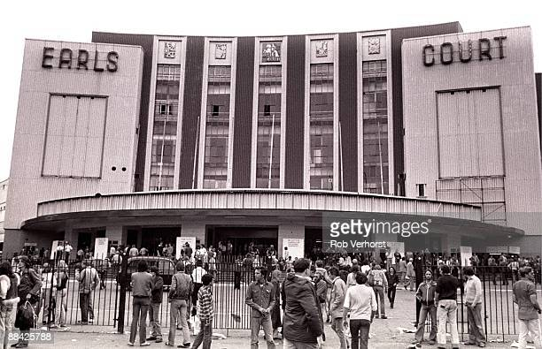 COURT Photo of PINK FLOYD and VENUES and EARLS COURT crowds gathered outside Pink Floyd's Wall concert venues Earls Court
