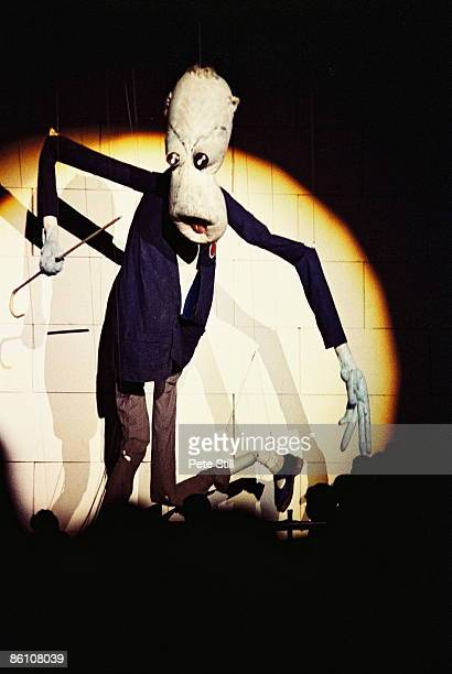 Photo of PINK FLOYD giant teacher puppet at The Wall Concert
