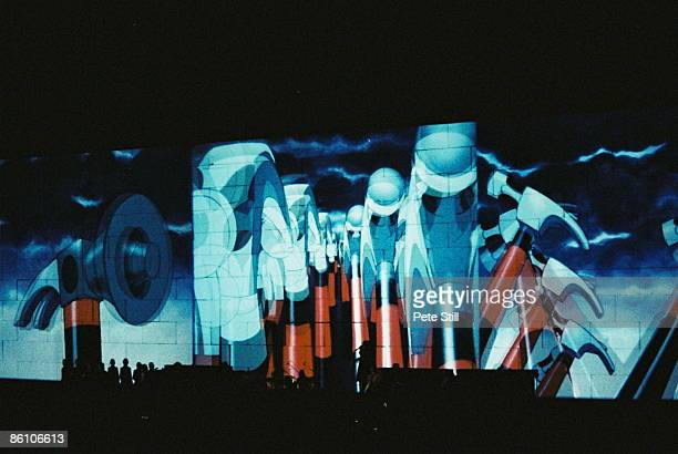 Photo of PINK FLOYD projected animation at The Wall Concert