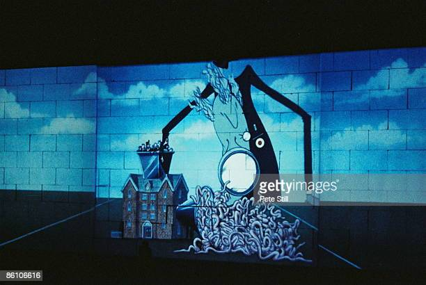 Photo of PINK FLOYD projected animation The Wall Concert