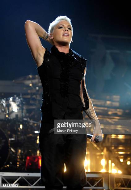 Photo of PINK Performing live on stage