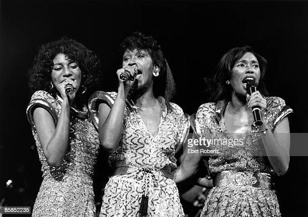 UNITED STATES JANUARY 01 Photo of POINTER SISTERS and Anita POINTER and Ruth POINTER and June POINTER Anita Ruth and June Pointer performing on stage...