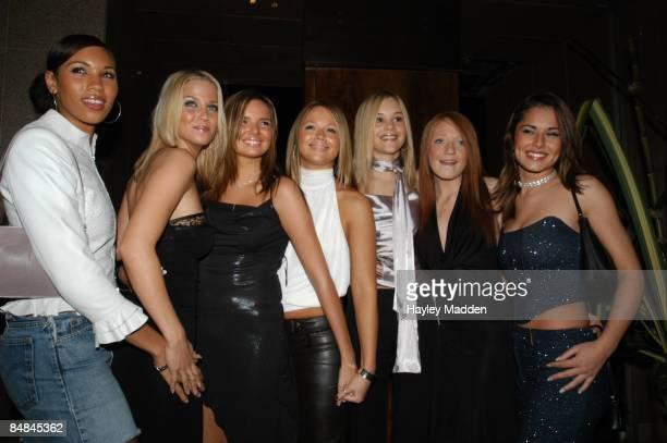 Photo of POP RIVALS finalists who became Girls Aloud LR Hazel Kaneswaren Sarah Harding Nadine Coyle Kimberley Walsh Nicola Ward Nicola Roberts Cheryl...