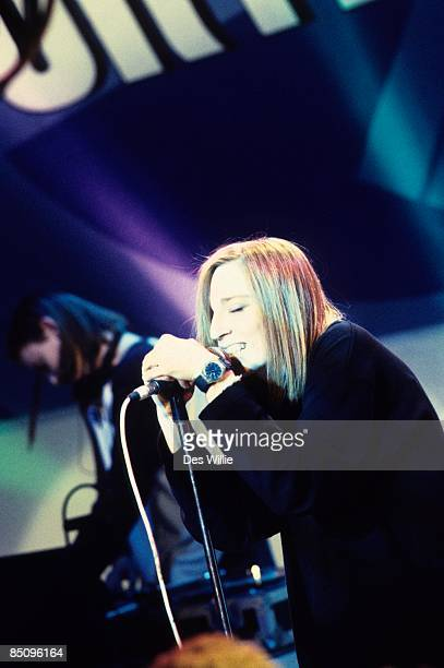 Photo of PORTISHEAD and Beth GIBBONS; Beth Gibbons performing on stage