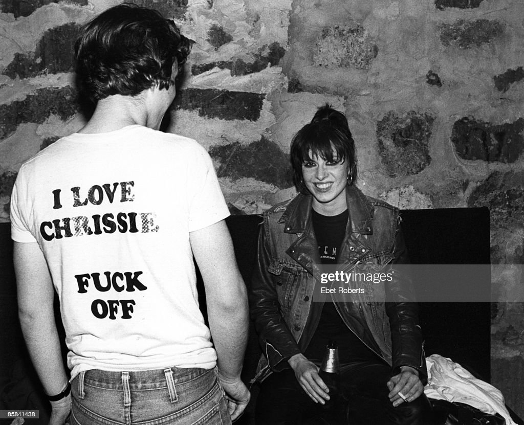 HAVEN Photo of PRETENDERS and Chrissie HYNDE, Chrissie Hynde backstage at Toads Place, smoking cigarette, drink, beer