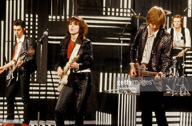 STUDIOS Photo of PRETENDERS and Martin CHAMBERS and Chrissie HYNDE and James HONEYMAN SCOTT and Pete FARNDON Group performing on 'The Kenny Everett...